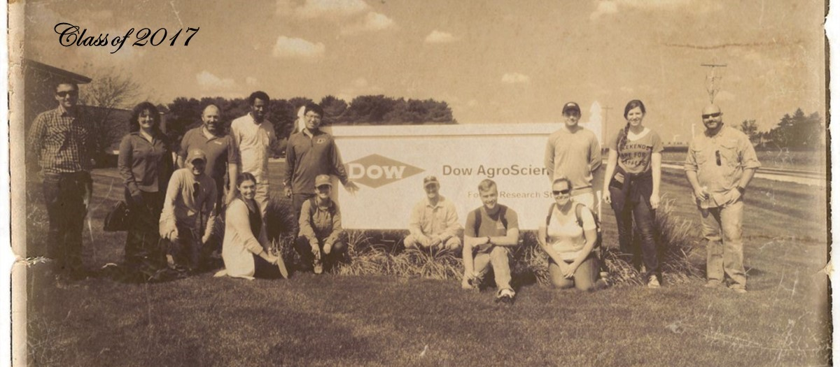 This image show the group visiting DOW AGRO Company