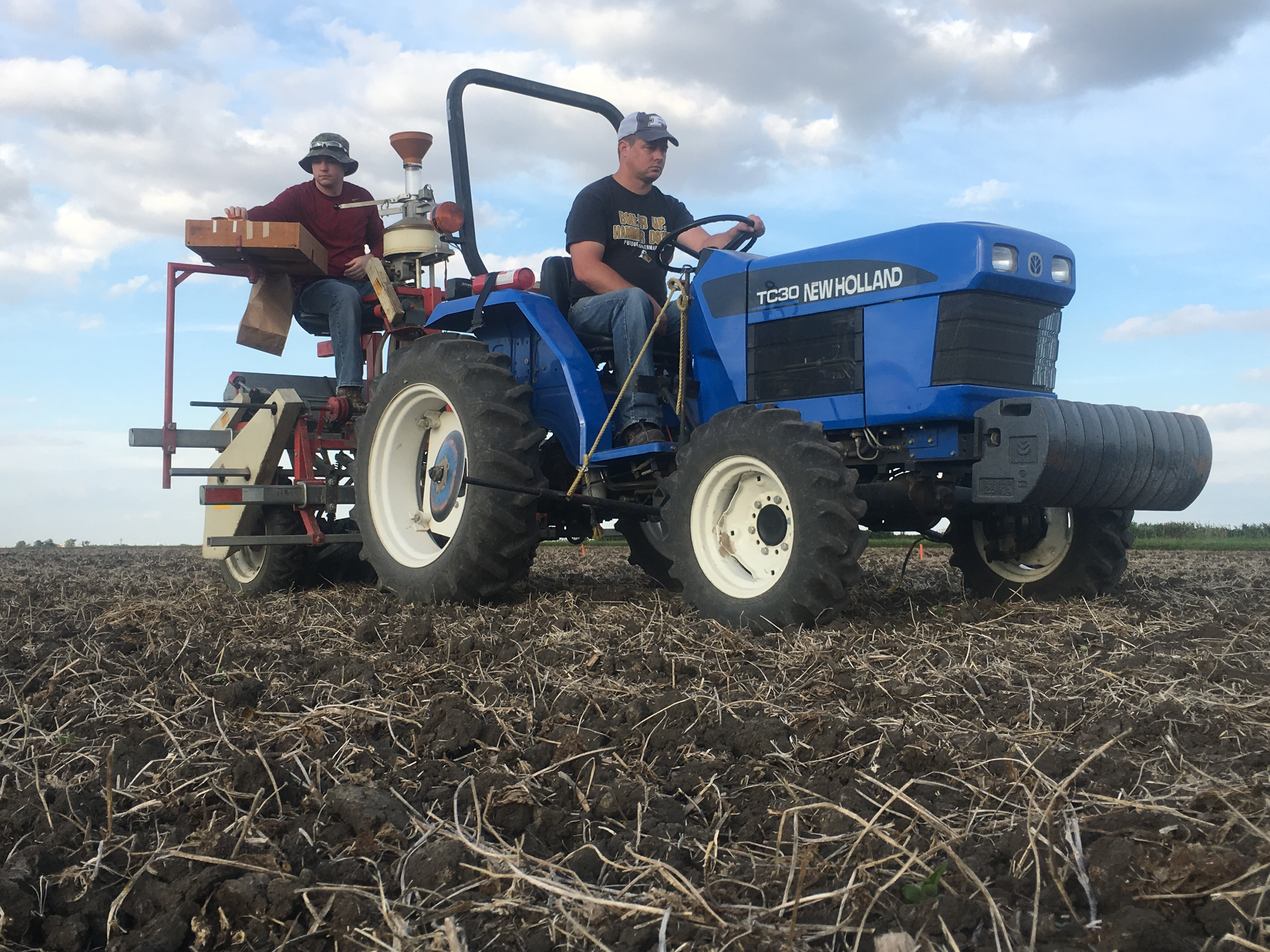 Blake and Jason are planting yield trials in ACRE