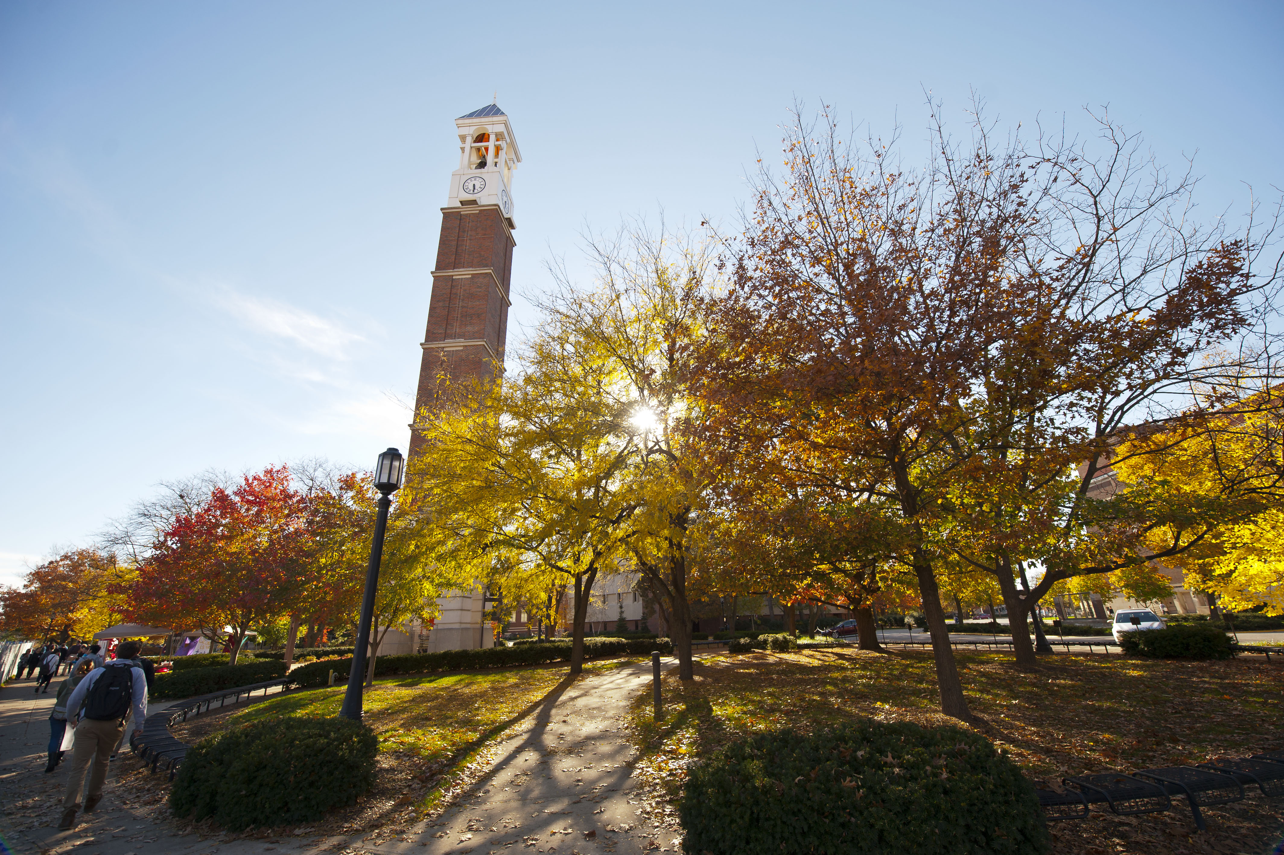 Purdue campus in the fall