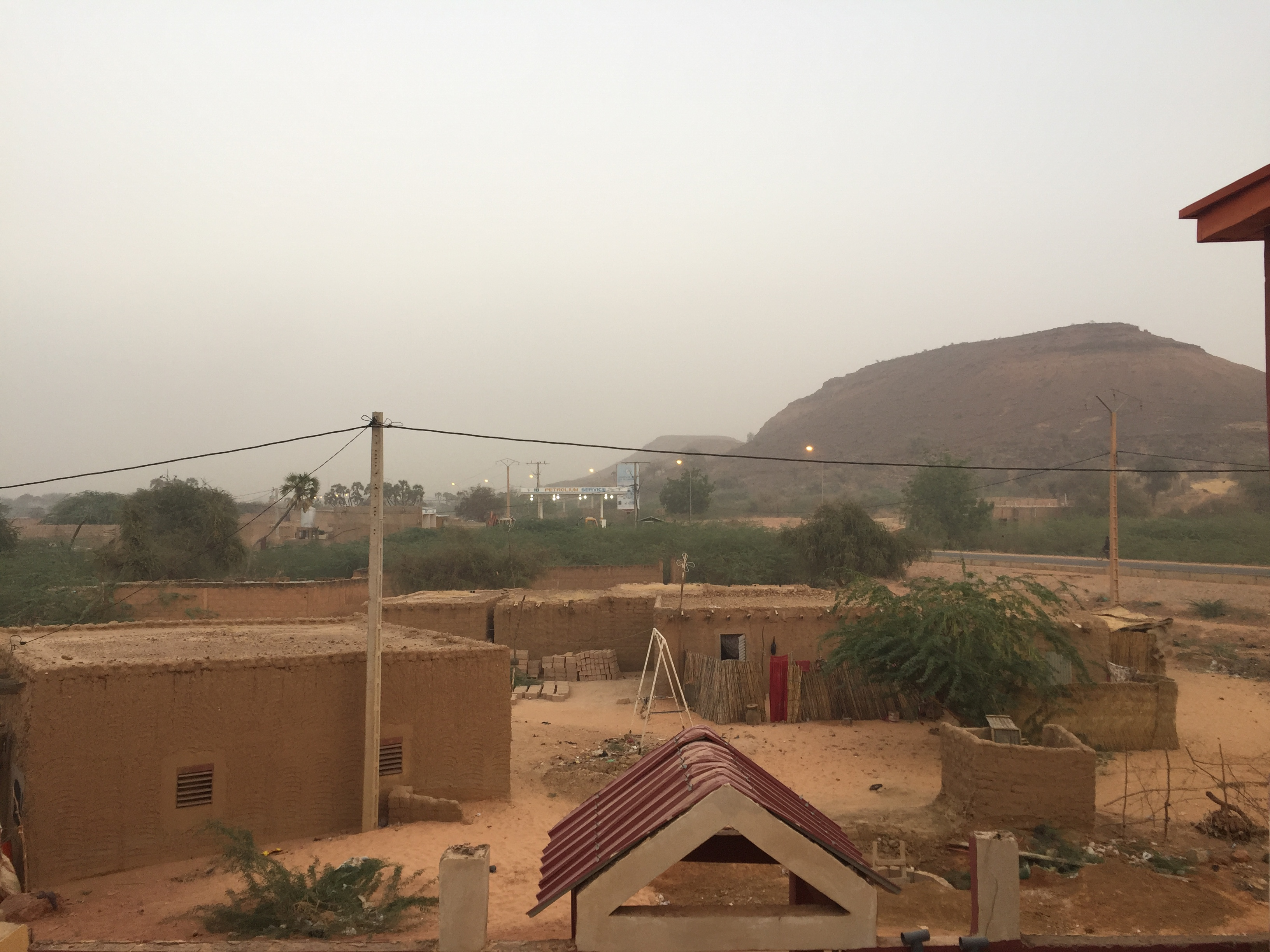 A dust storm approaching Niger's capital Niamey.