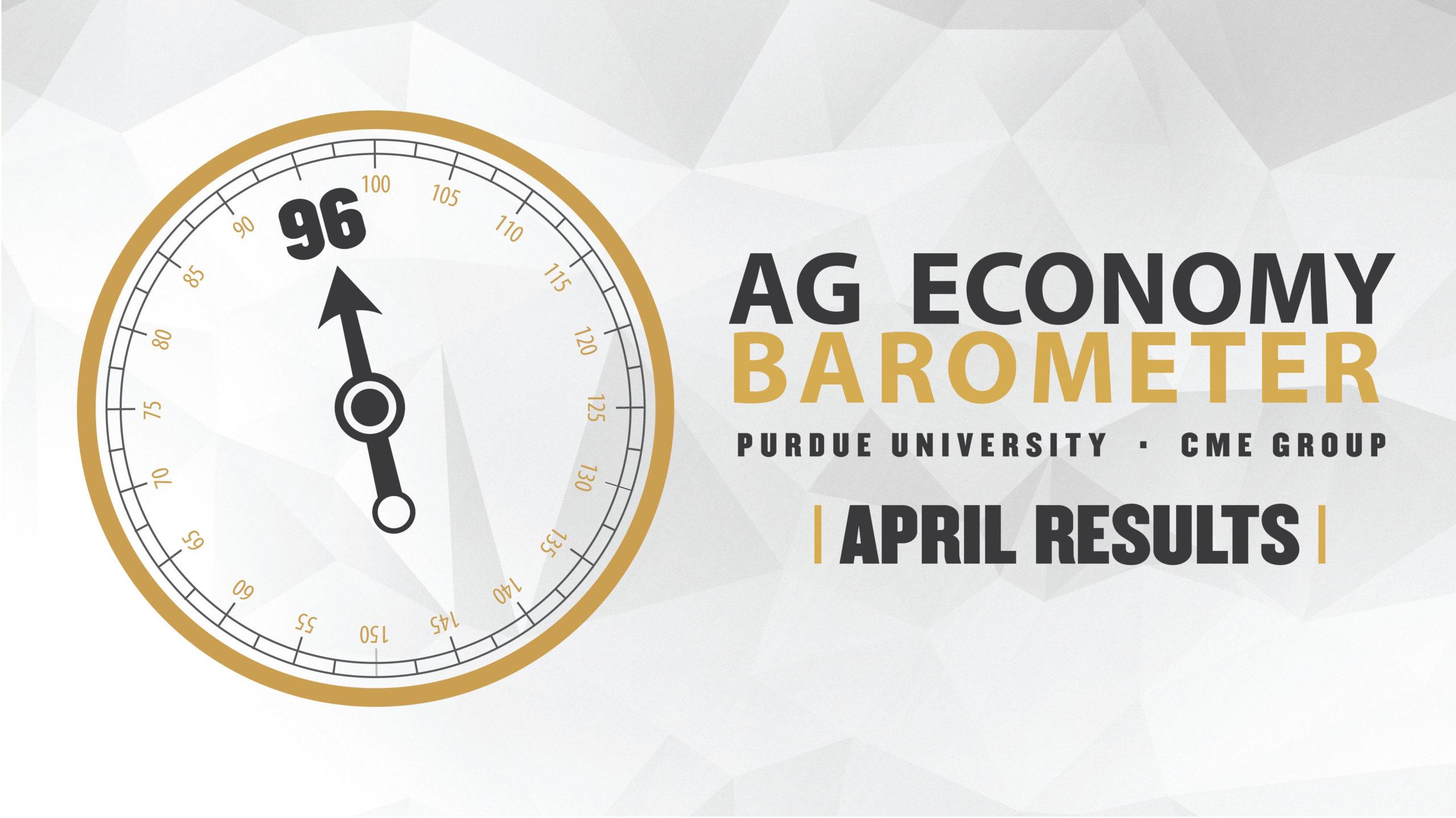 Ag Economy Barometer Widget April 2020: 96