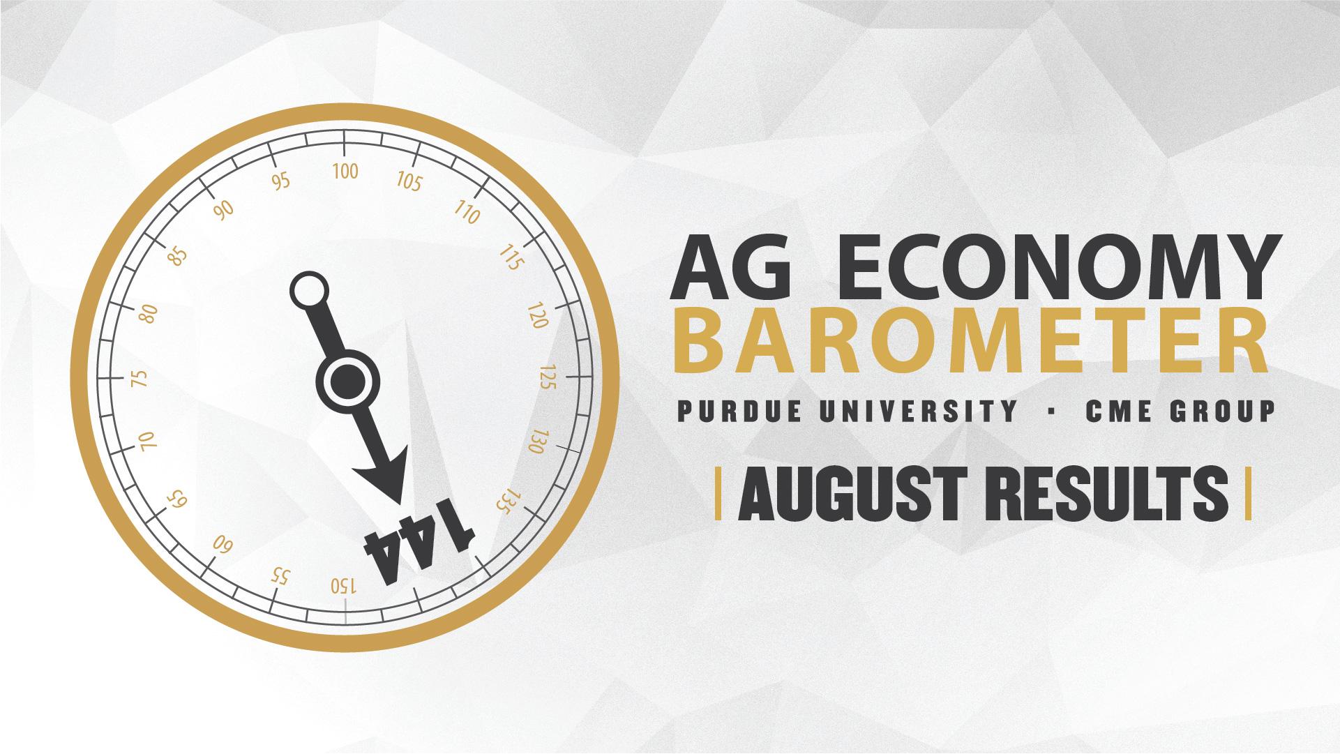 Ag Economy Barometer Widget August 2020: 144