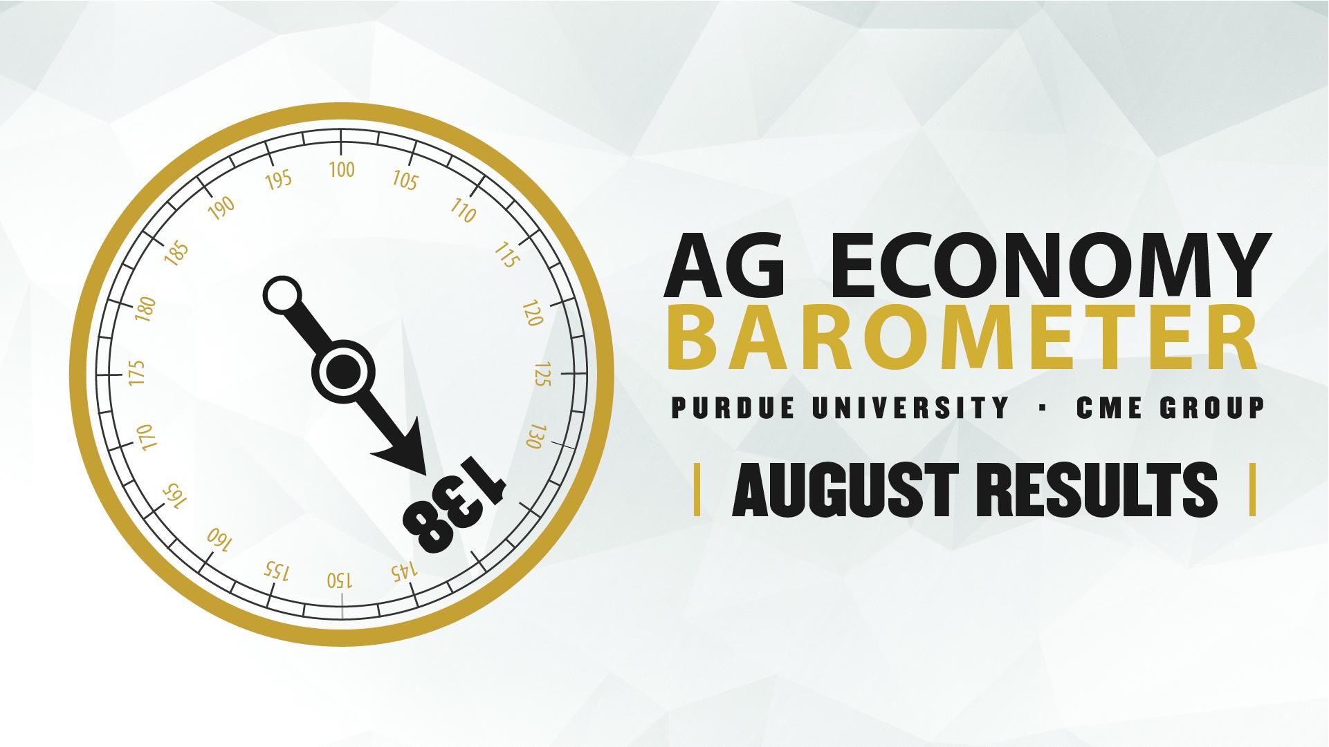 Ag Economy Barometer Widget August 2021: 138