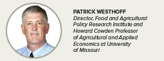 Patrick Westhoff, University of Missouri's Food and Agricultural Policy Research Institute