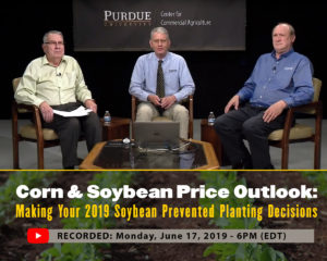 Corn & Soybean Price Outlook: Making Your 2019 Soybean Prevented Planting Decisions Webinar Recording