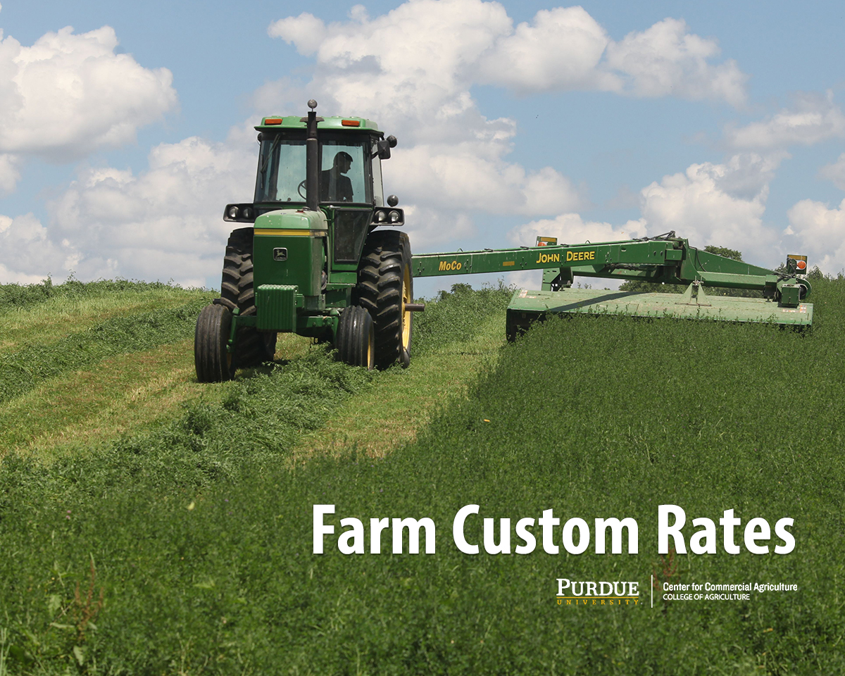 2019 Indiana Farm Custom Rates Center For Commercial Agriculture