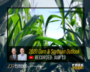 2020 Corn & Soybean Outlook webinar, recorded July 13, 2020
