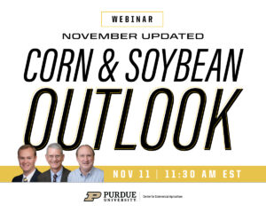 November Corn and Soybean Outlook Update Webinar, Nov. 11, 2020