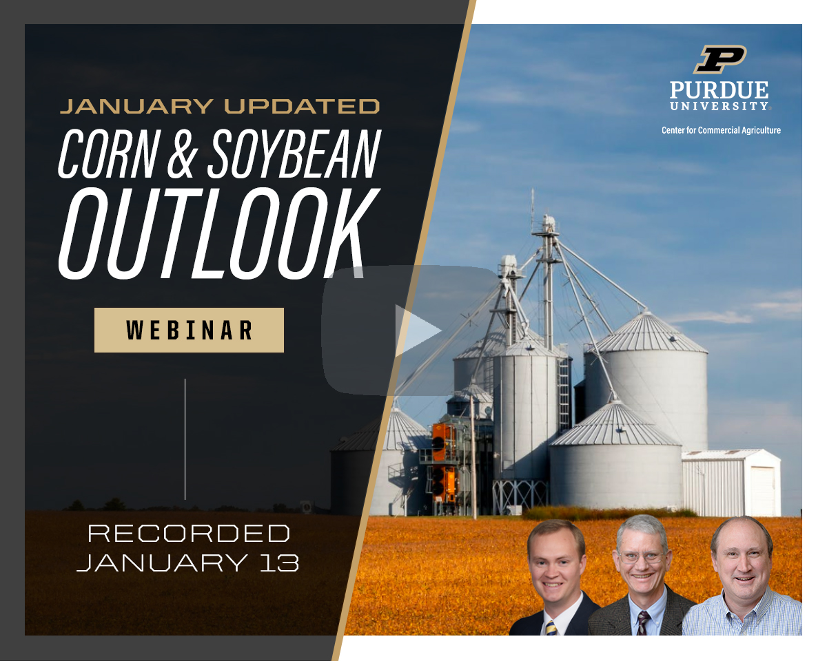 January Corn and Soybean Outlook Updated webinar, January 13, 2021