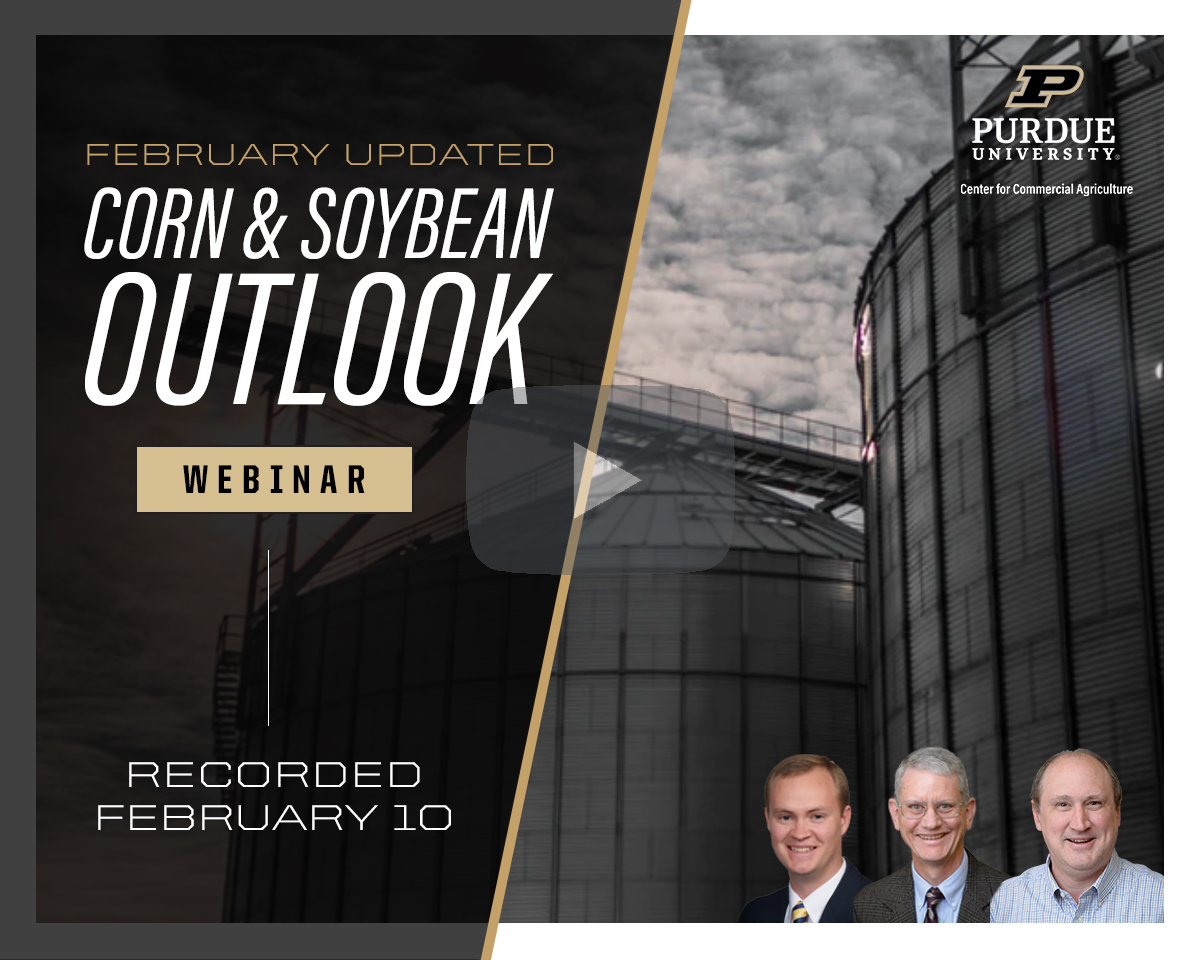 February Corn and Soybean Outlook Updated webinar, February 10, 2021