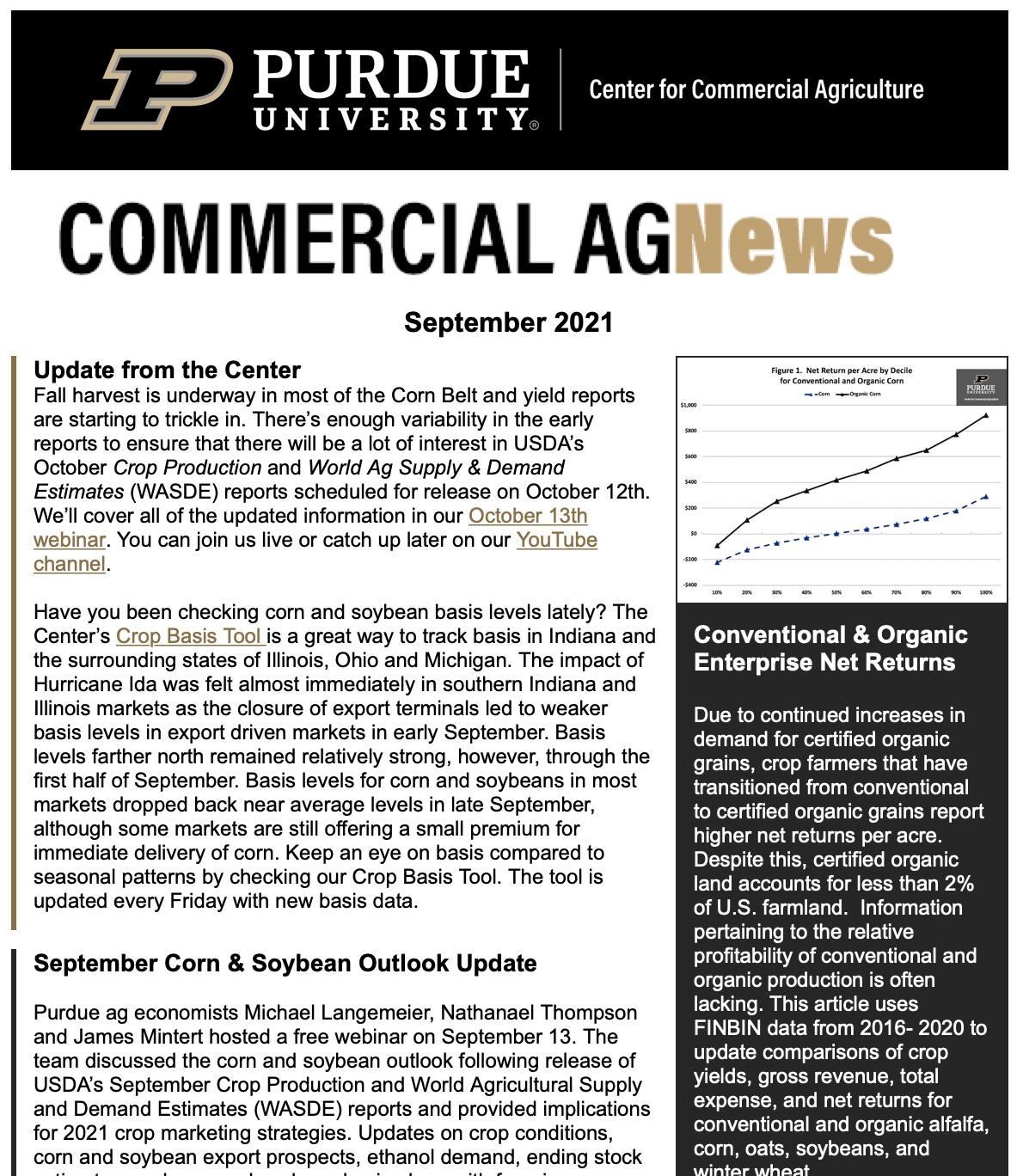 Commercial AgNews, September 2021