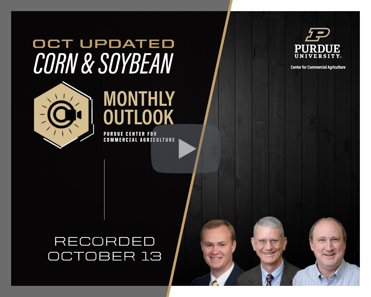 October Corn and Soybean Monthly Outlook Update webinar, recorded October 13, 2021