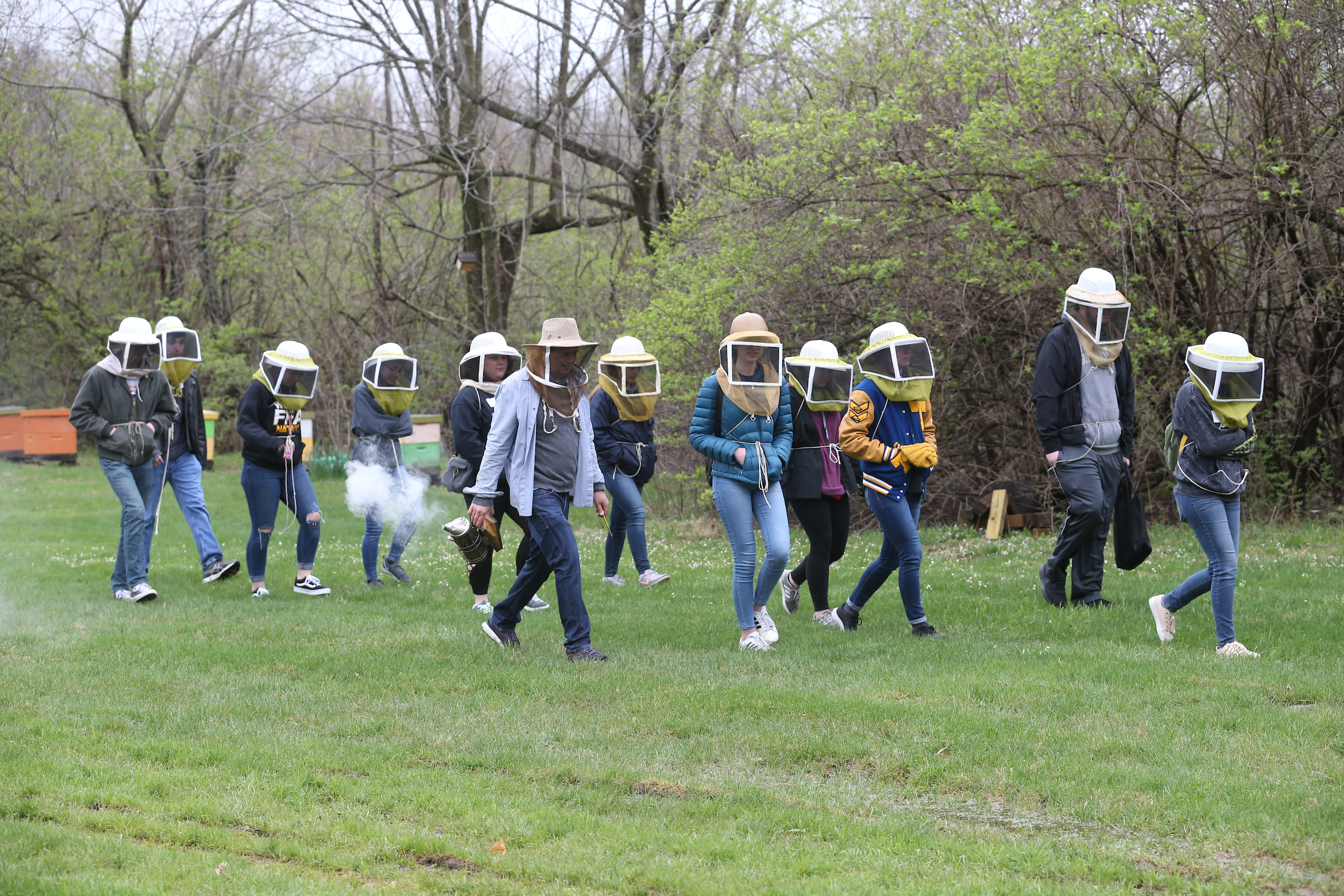 forensics entomology students conduct field research