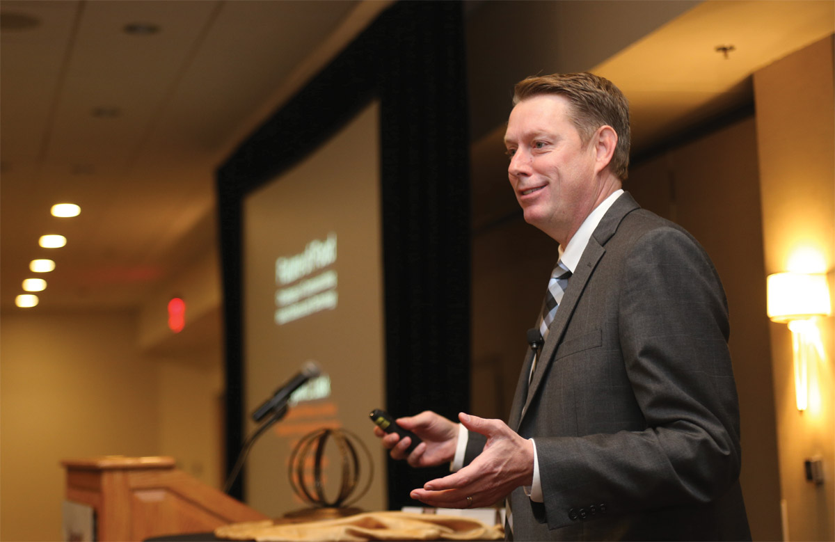 Jayson Lusk speaks at the 2017 World Food Prize ceremony