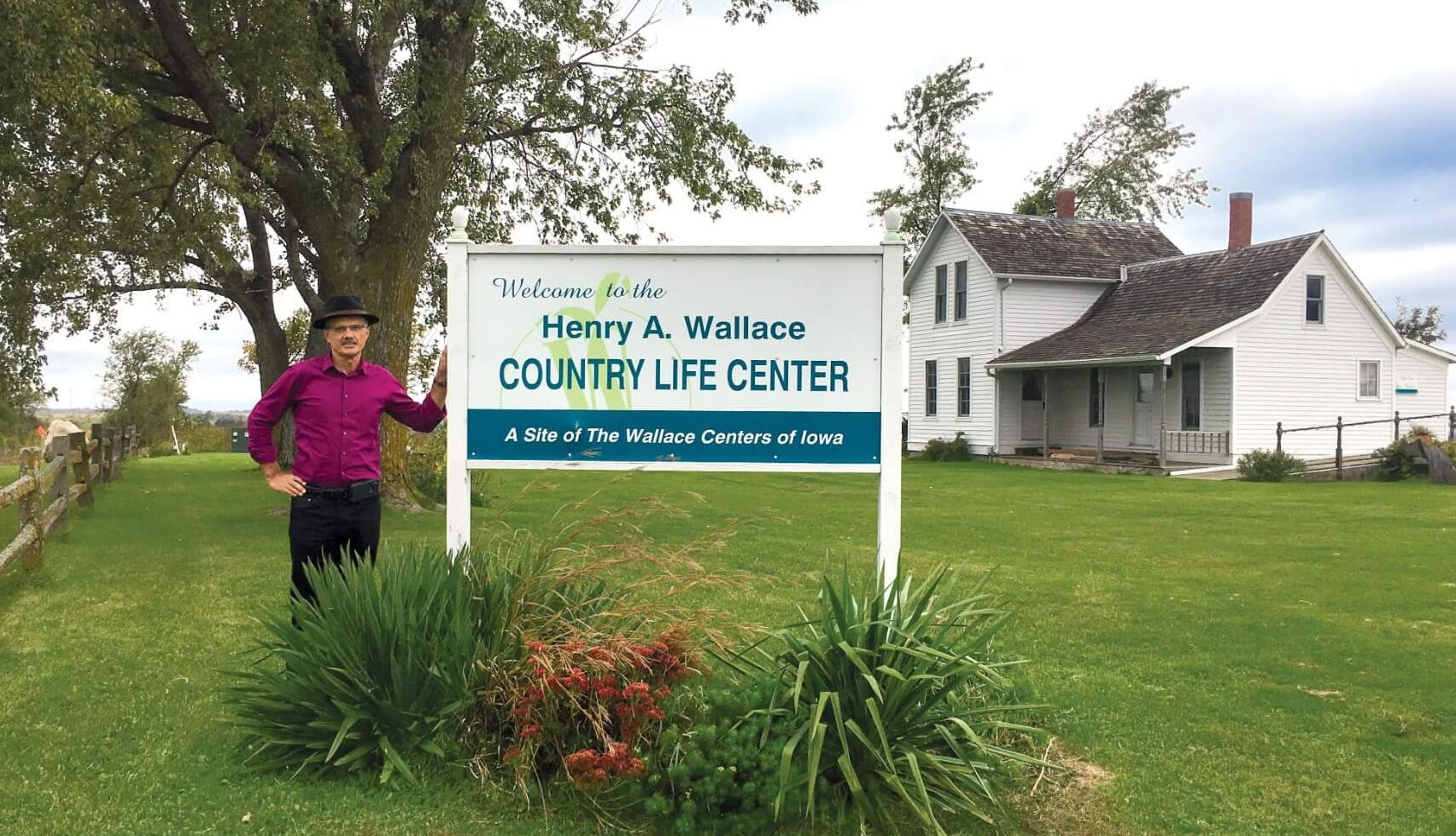 Tony Vyn visited the childhood home of Henry A. Wallace, the namesake of his new chair title.