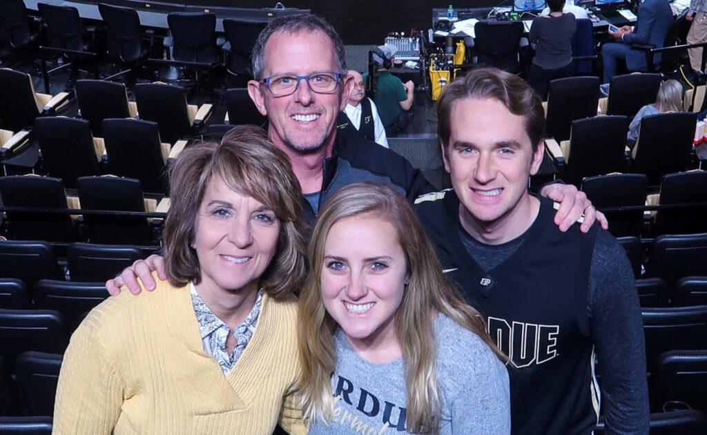 Jamieson family in Mackey arena