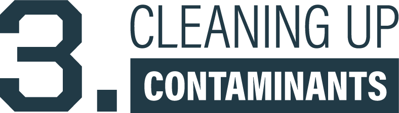Cleaning up contaminants