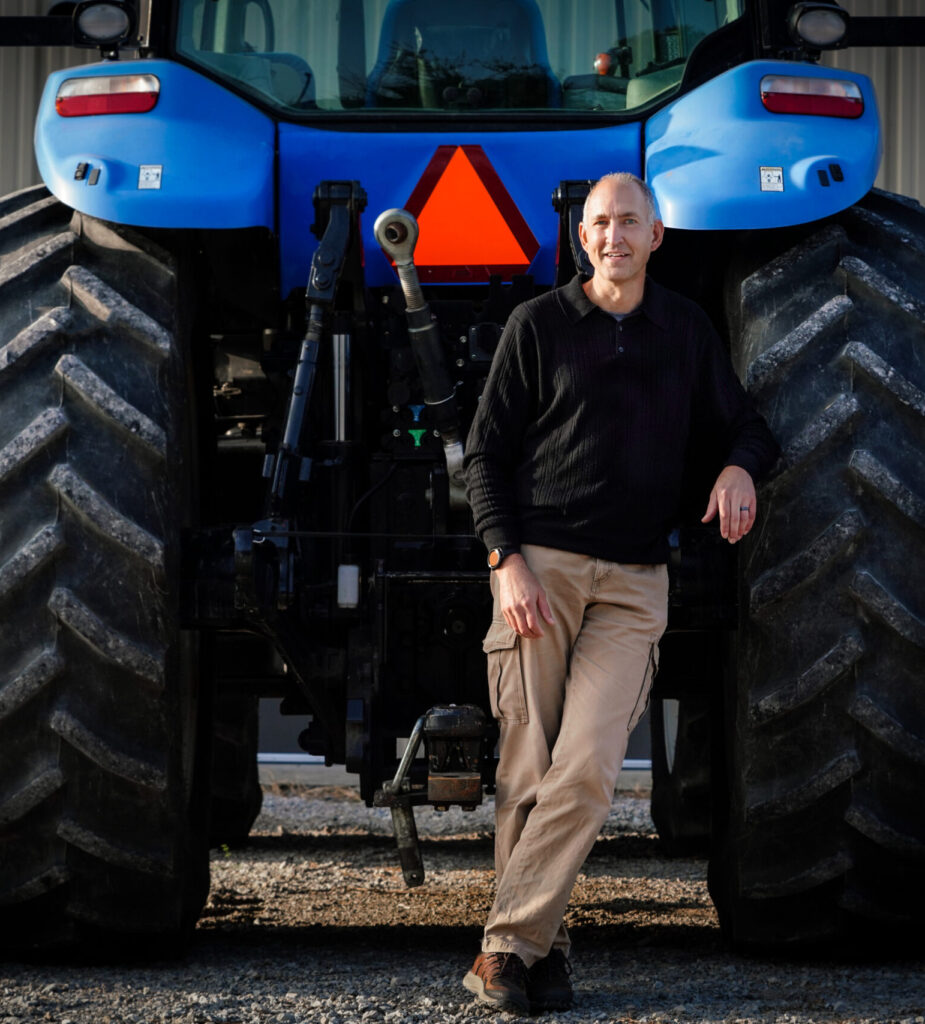 John Lumkes with tractor