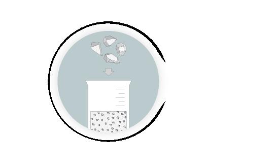 Mixture in beaker illustration