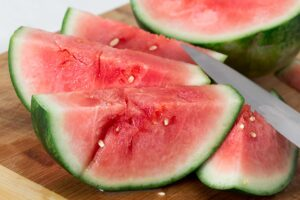 Watermelon sliced up