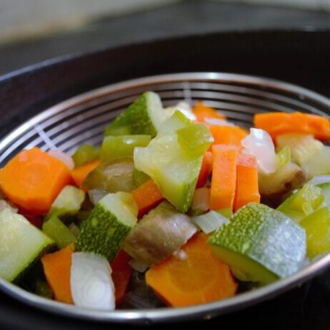Chopped mixed vegetables