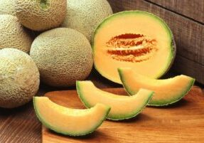 Cantaloupe that is sliced
