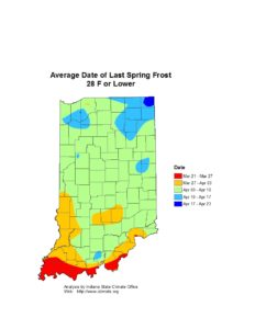 Avg date of last spring frost