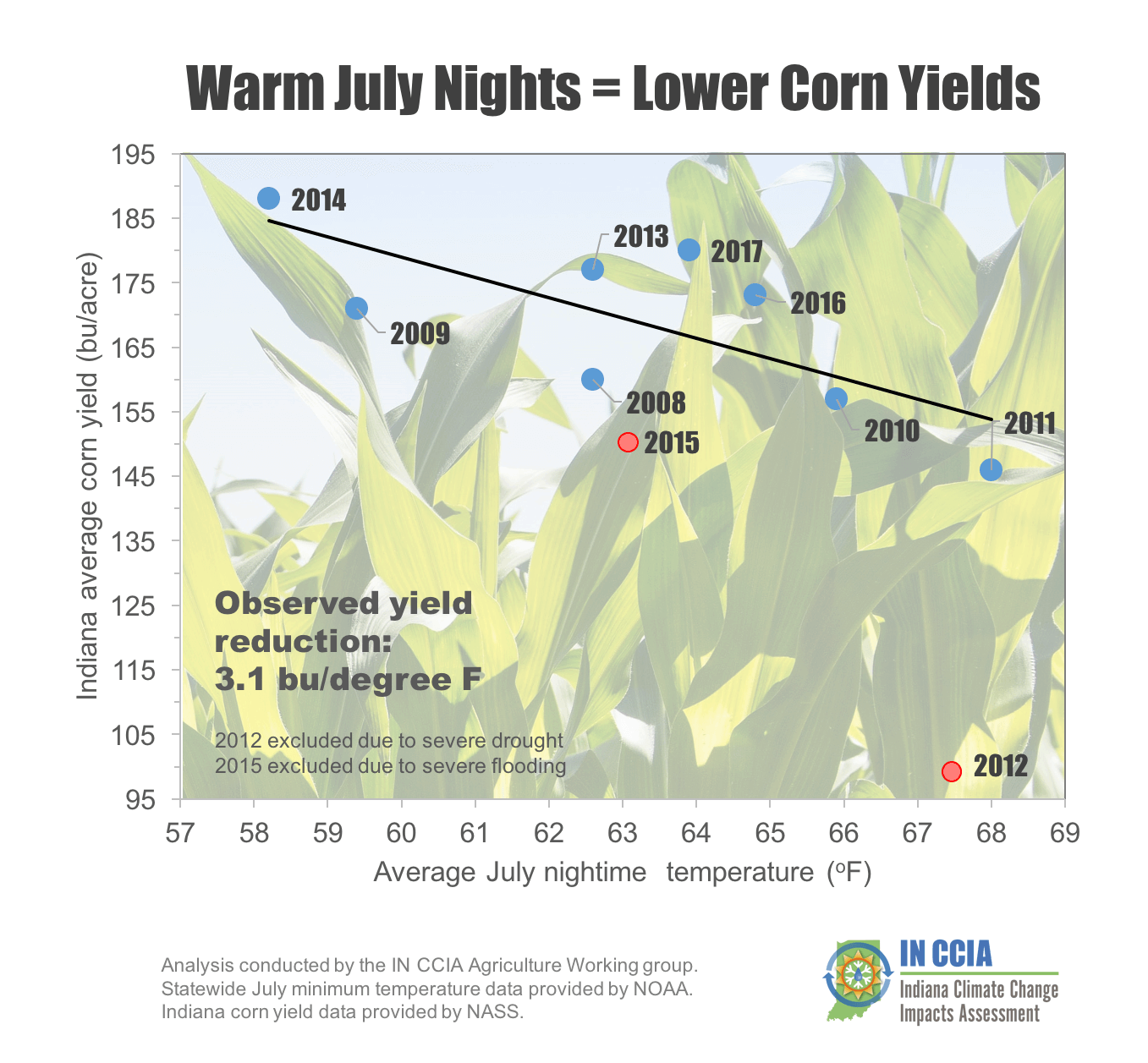 Warm July Nights Equals Lower Corn Yields