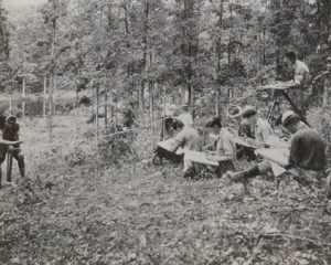 Forestry majors at work - 1936