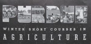 Banner from Winter Short Courses in Agriculture, 1930s
