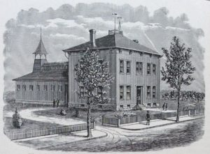 A sketch of the first Agricultural Building and Experiment Station, 1882