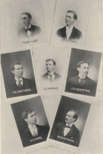 Photo of The first BS degree recipients from the Purdue College of Agriculture, 1895