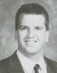 Graduation picture of Karl Weiss, 1992 College of Agriculture graduate. From e-Archives, Debris Yearbook. Purdue University Archives and Special Collections, Purdue University Libraries.