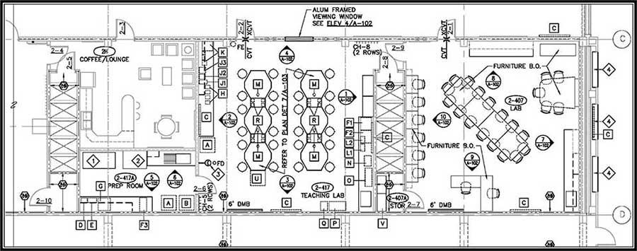 beck lab layout
