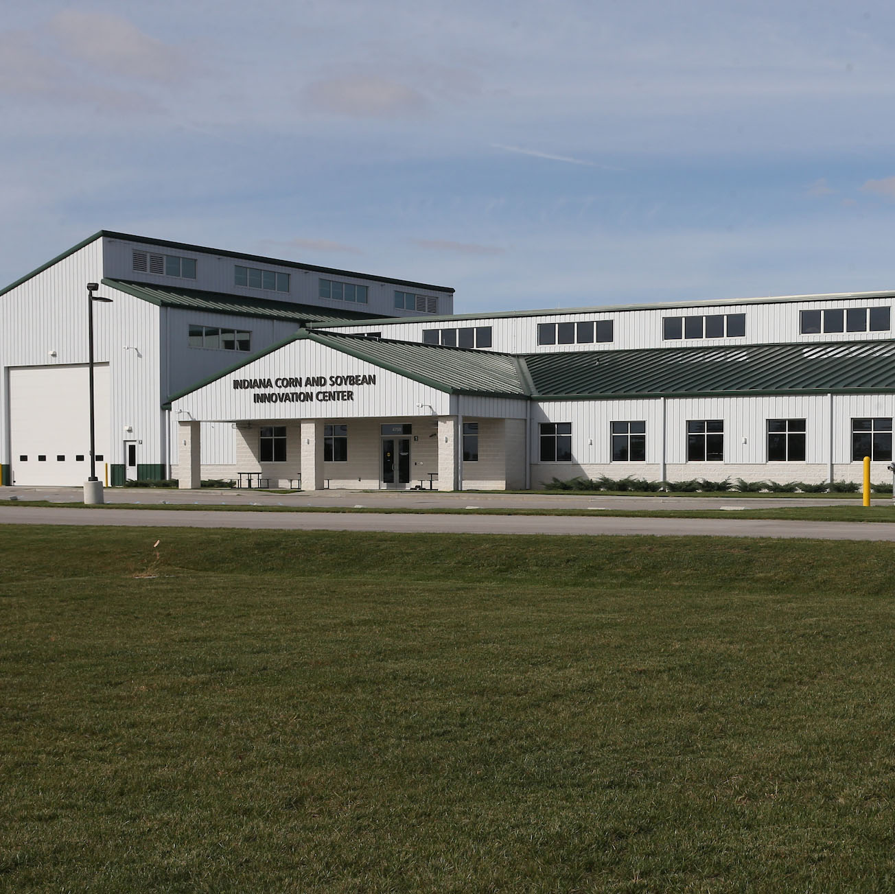 Corn and Soybean Center - 10/31/2017 -  Photos at the Indiana Corn and Soybean Innovation Center at the Purdue Agronomy Center for Research and Education (ACRE) facility. Photos are updated exterior shot of the building.