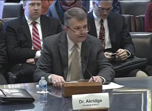 Jay Akridge testifies before Congress