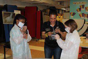 Quincy Clark working with children at YMCA