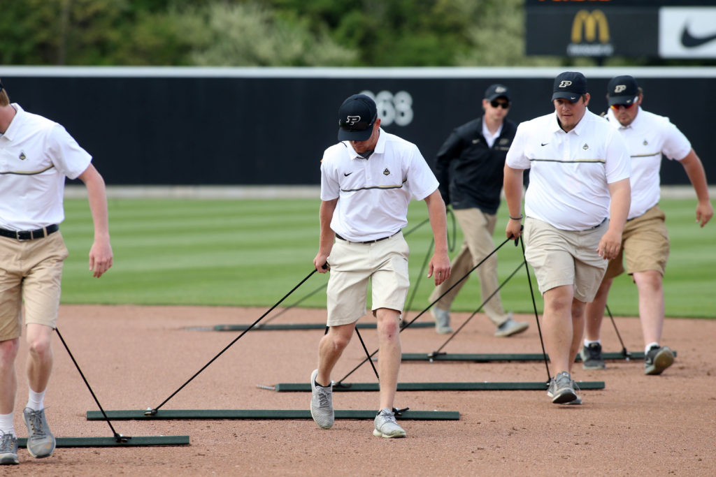 Purdue Baseball grounds crew.