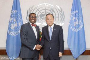 World Food Prize Laureate, Akinwumi Ayodeji Adesina, with UN Secretary General
