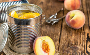 preserved can of peaches