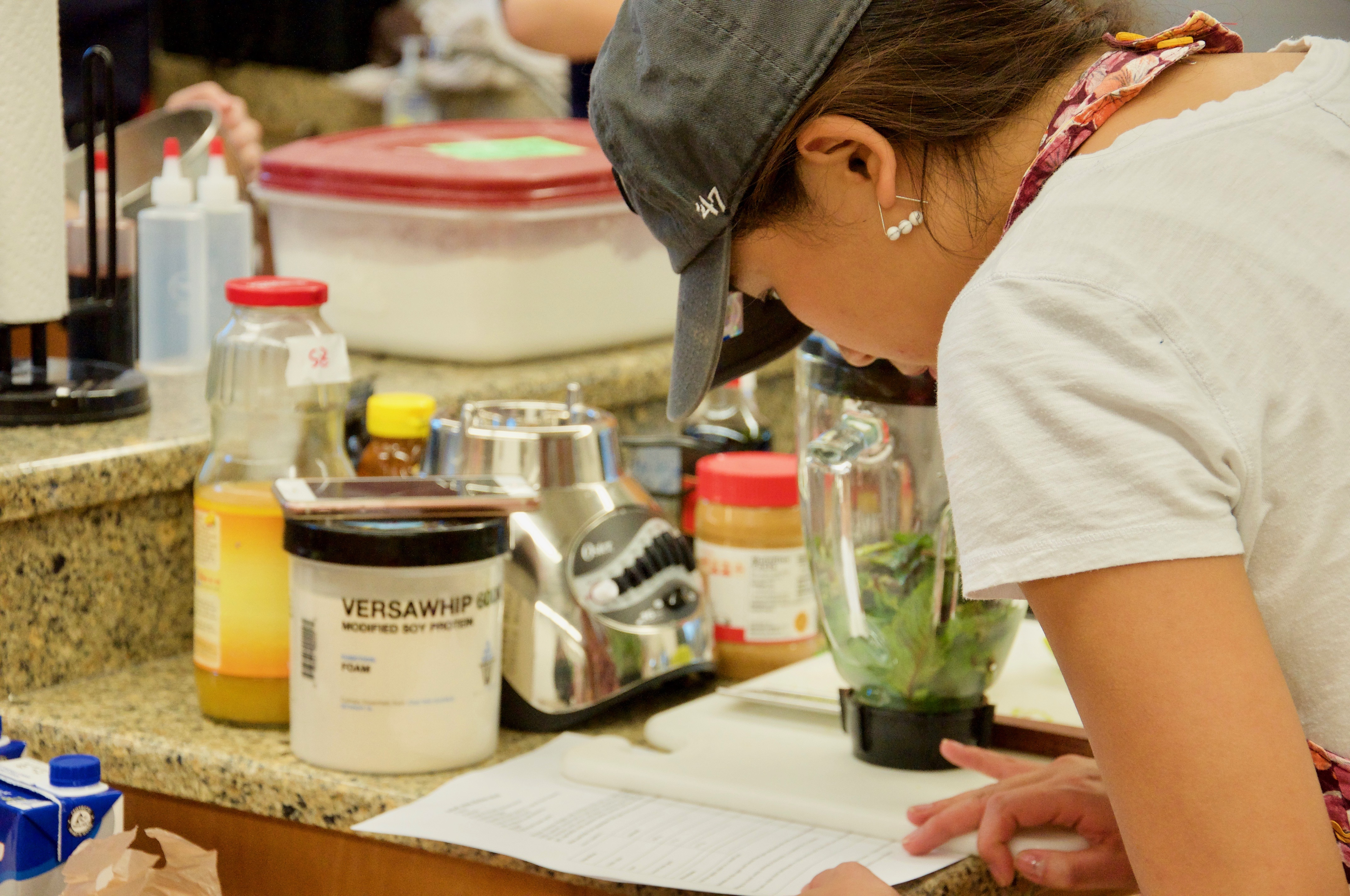 Student review recipe for Science of Experimental Cuisine course