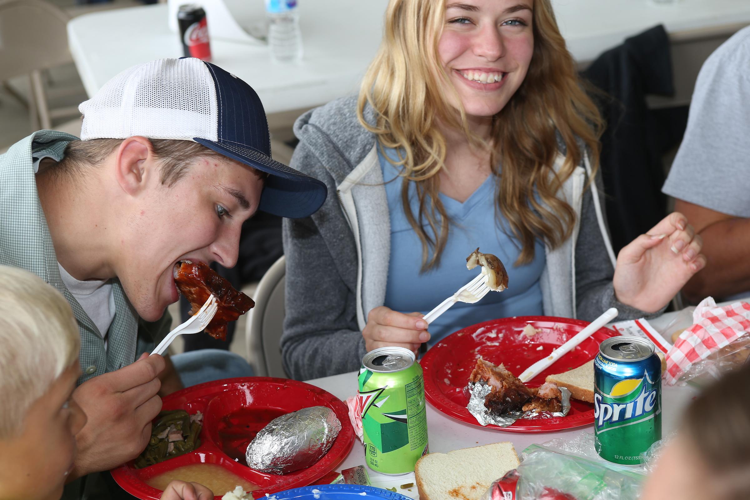 People eating.