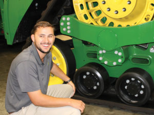 Photo provided by Kole Kamman Kole Kamman is a technical instructor for John Deere. He says his favorite part of the job is the personal connection he makes with each technician he trains.