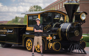 Photo provided by Quinn Toole Quinn Toole is a co-pilot of the Boilermaker Special, the official mascot of Purdue University. The Special requires a co-pilot because the smokestack blocks the driver's view on the right side of the vehicle.