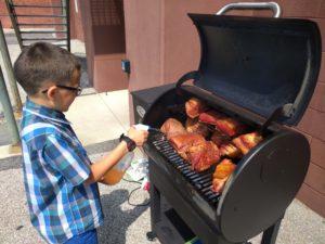 Child grilling