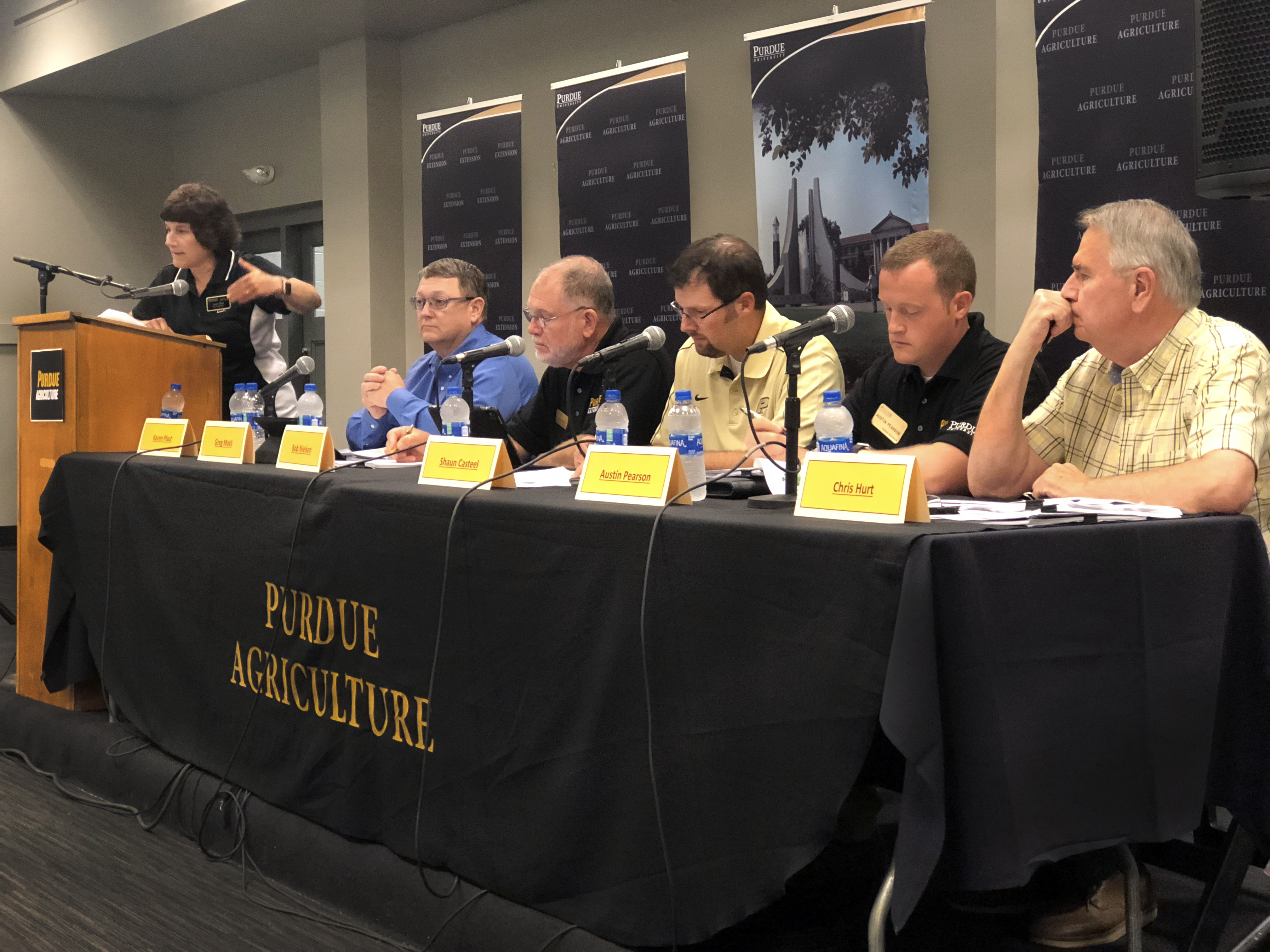 Purdue's Panel of Experts at the 2018 Indiana State Fair.