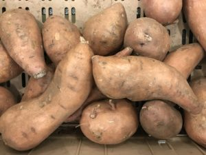 Sweet Potatoes with Roots