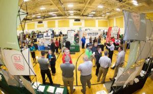 Booths at the Career Fair