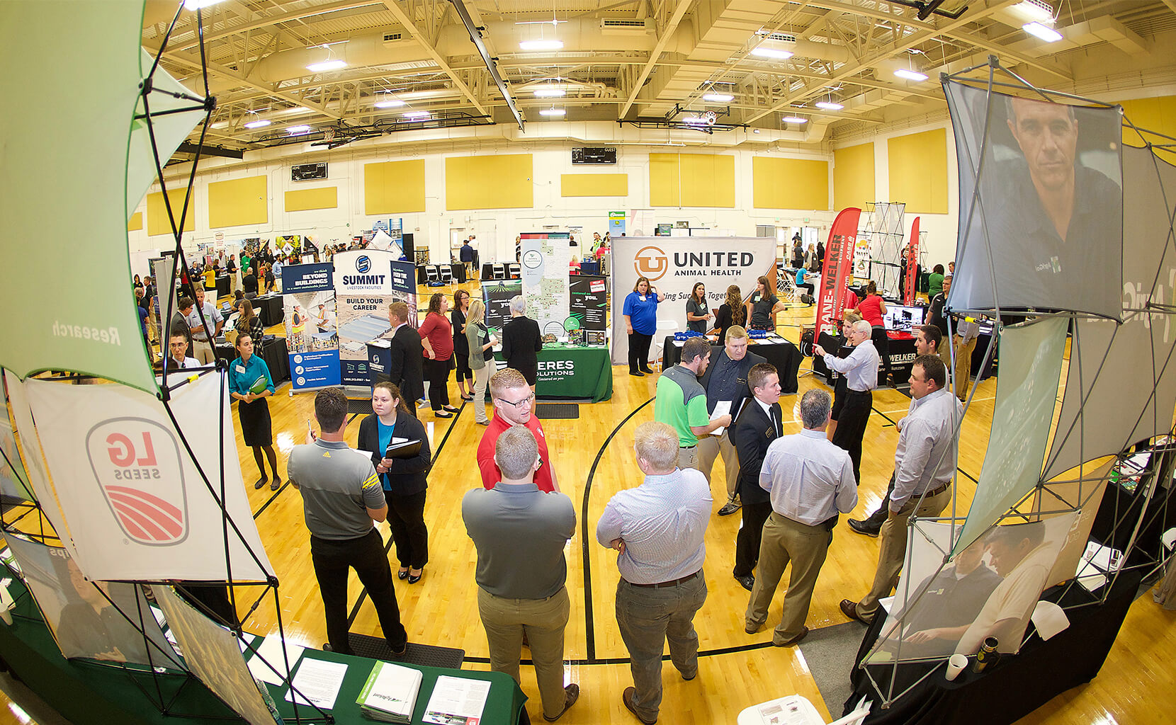 Booths at the Career Fair
