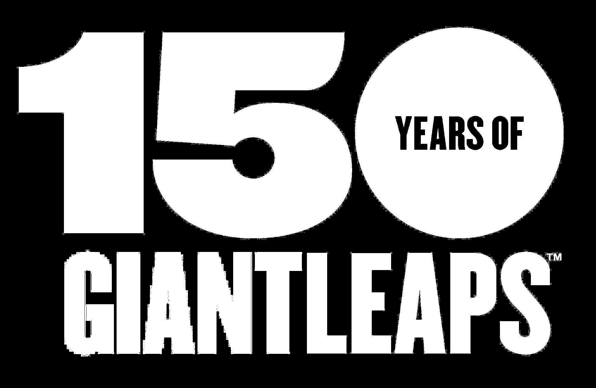 150th Logo in White